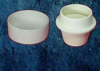 Cadinho de cerâmica indústria