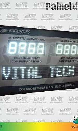 """IND-0263 (INDICADOR DE CIPA 6"""" POLEGADAS COM PMV (2,00 METROS)"""