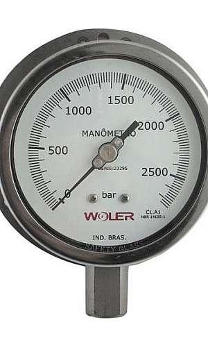 Manômetro de alta pressão 2000 bar